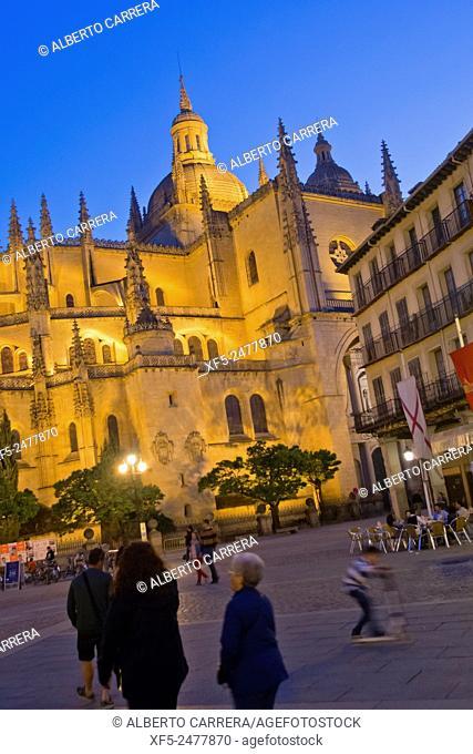 Cathedral of Segovia, Santa Iglesia Catedral de Nuestra Señora de la Asunción y de San Frutos, Main Square, Plaza Mayor, Segovia, UNESCO World Heritage Site