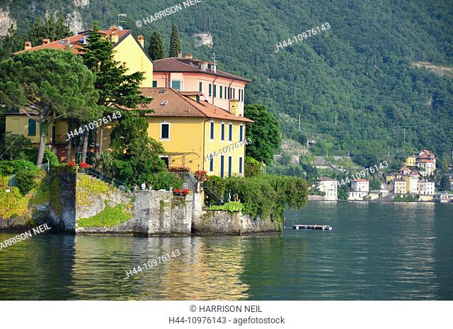 Water front residential properties on Lake Como, in the Italian Alps