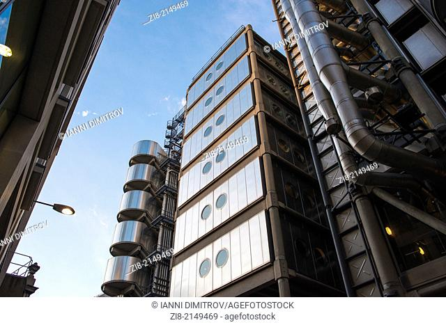 Lloyd's of London-view from Leadenhall Place,City of London,England