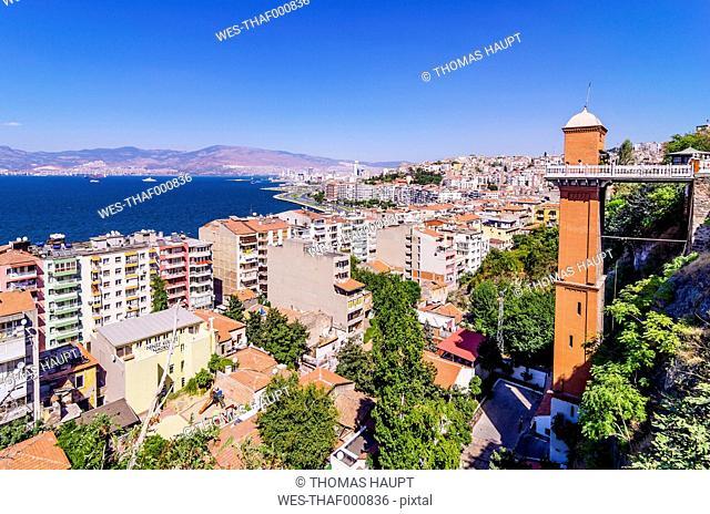 Turkey, Izmir, Aegean Region, Cityscape and Asansoer