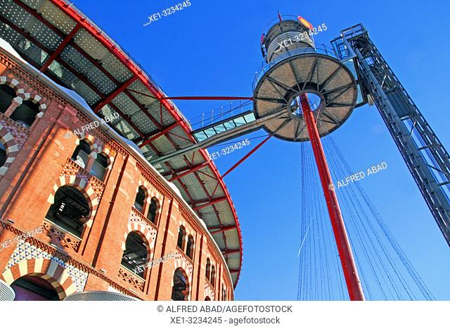 Elevator and viewpoint, Arenas shopping center, old bullring, Barcelona, Catalonia, Spain