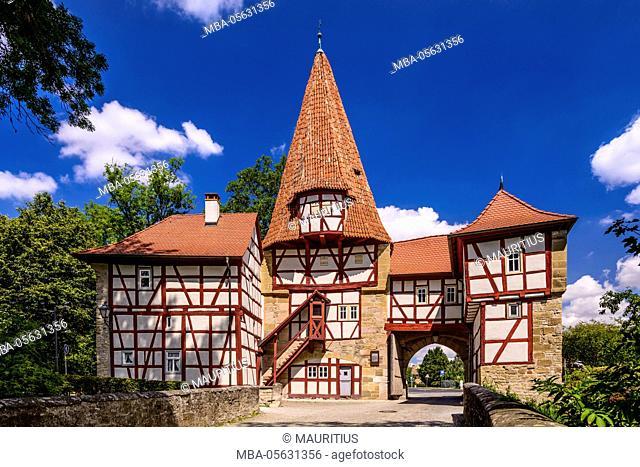 Germany, Bavaria, Lower Franconia, Mainfranken, Iphofen, Rödelsee gate, south side