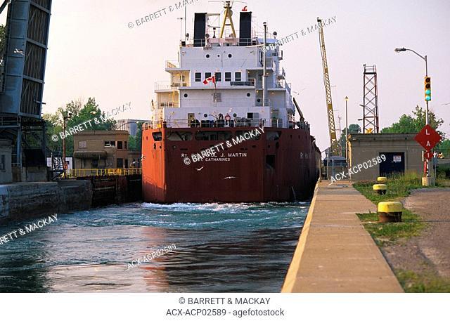 St  Lawrence Seaway, Lock 8, Port Colburne, Ontario, Canada