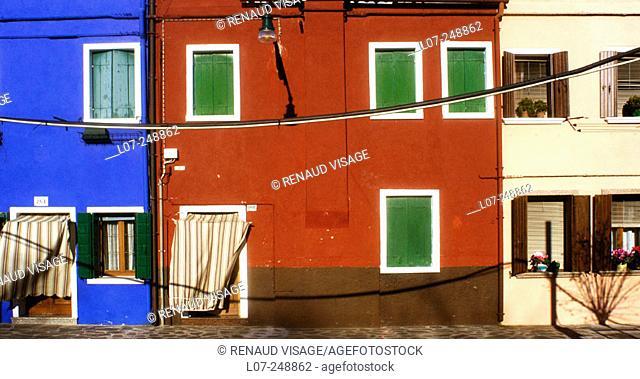 Colourful houses. Burano, Venice. Italy