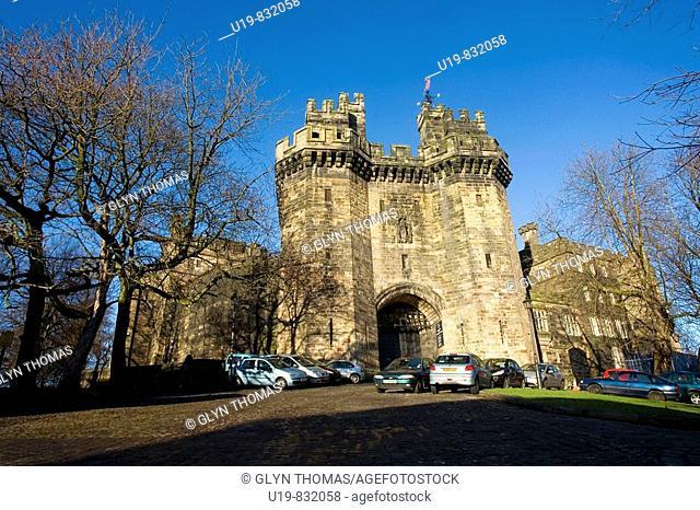 Lancaster Castle - John O' Gaunt Gateway - Lancaster - England - UK