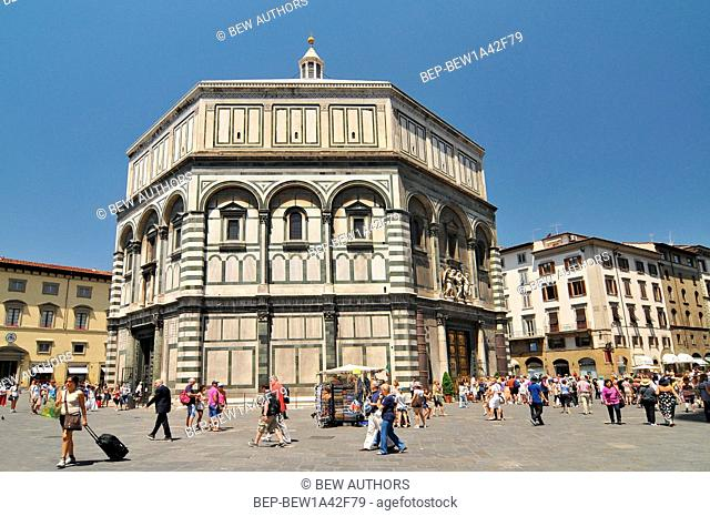 The Florence Baptistery or Battistero di San Giovanni, is a religious building in Florence (Tuscany), Italy