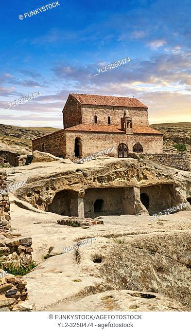 Picture & image of the medieval Christian Basilica, Uplistsikhe (Lords Fortress) troglodyte cave city, near Gori, Shida Kartli, Georgia