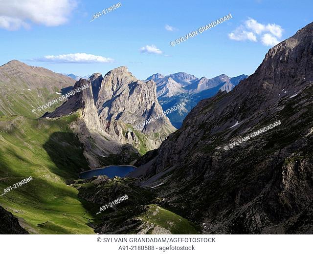 France, Savoie, Valloire neighbourhood, mottest lake on Galibier trail