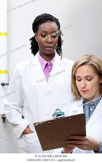 Female doctors working in a laboratory