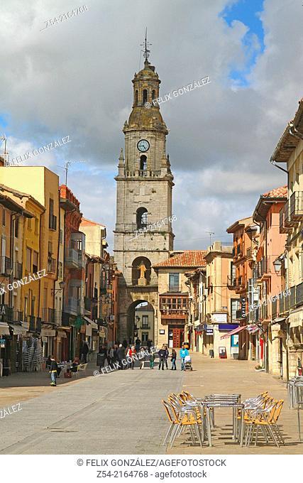 Puerta del Mercado, Clock Tower main square, Toro, Zamora, Castile and Leon, Spain