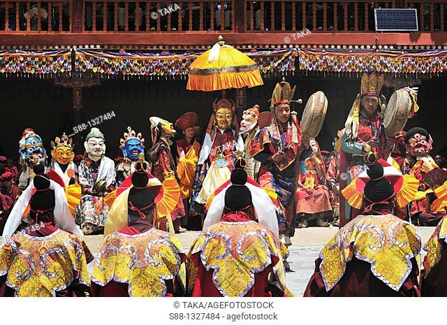 Chaam Musk Dance Festival at Hemis Gompa. Jammu and Kashmir, India