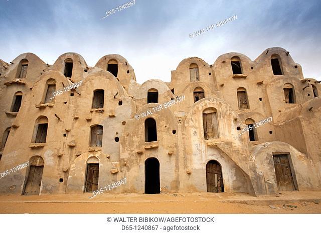 Tunisia, Ksour Area, Ezzahra, Ksar Ezzahra, fortified grain storage ksar building
