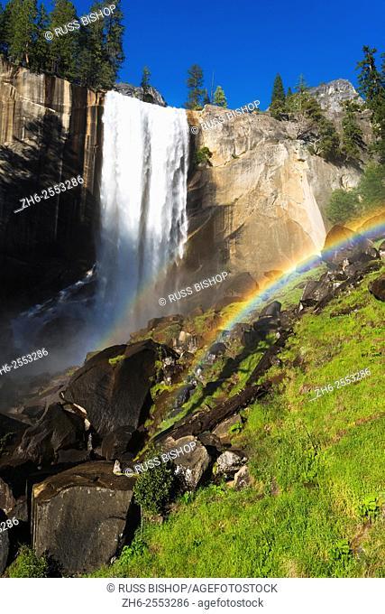 Vernal Fall and rainbow, Yosemite National Park, California USA