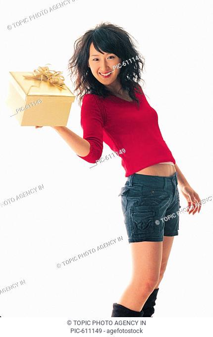 Woman Holding Gift, Korean