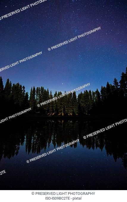 Starry night sky, Nickel Plate Provincial Park, Penticton, British Columbia, Canada