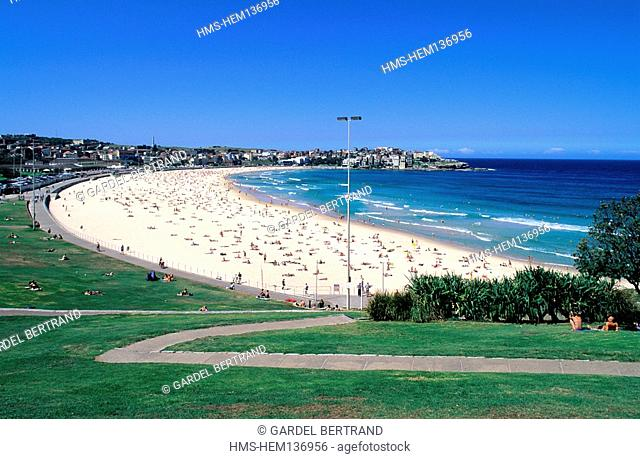 Australia, New South Wales, Sydney, Bondi, the most famous beach of Australia 15 minutes far from the city