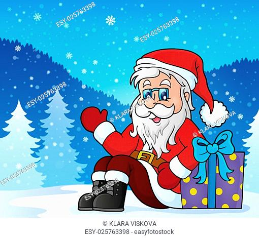 Santa Claus topic image 5 - picture illustration