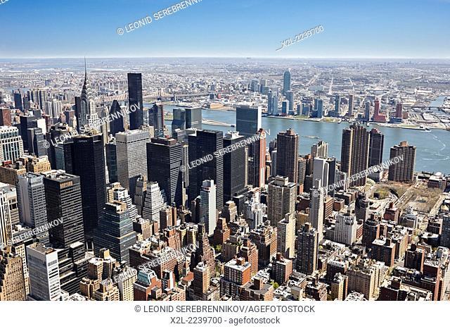 Elevated view of Manhattan. New York, USA