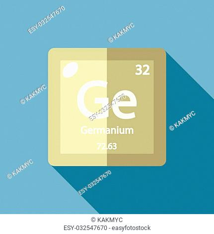 Chemical element Germanium. Flat design style modern vector illustration. Isolated on background. Elements in flat design