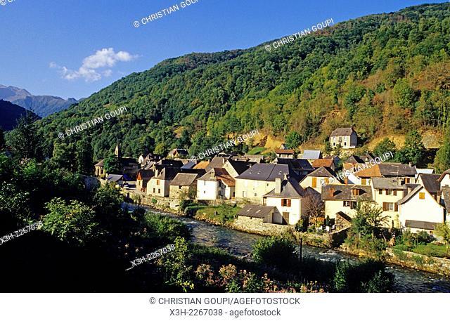 Bordes-sur-Lez, village in Couserans province, Ariege department, Midi-Pyrenees region, France, Europe