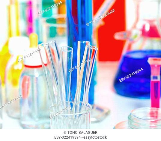 Chemical scientific laboratory stuff test tube flask