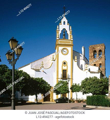 Church, Guadalcanal. Sevilla province, Andalusia, Spain