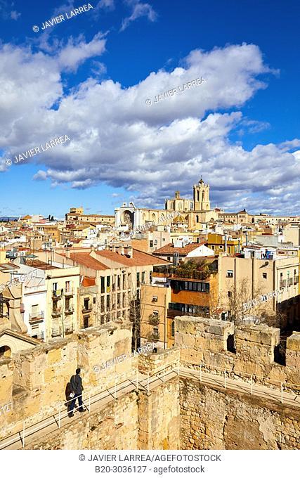 Cathedral, Roman Praetorium, Plaça del Rei, Tarragona City, Catalonia, Spain, Europe