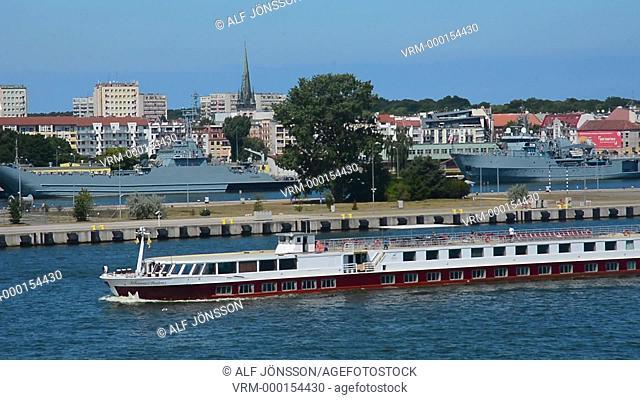 Ferry boat on river Swina, Swinoujscie, Poland