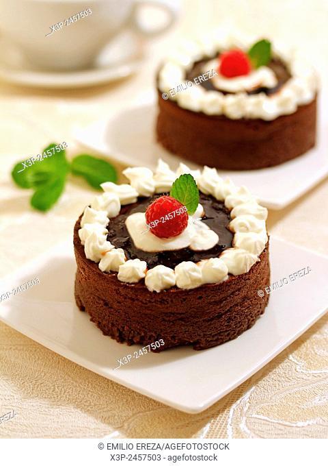 Cheese tart with chocolate
