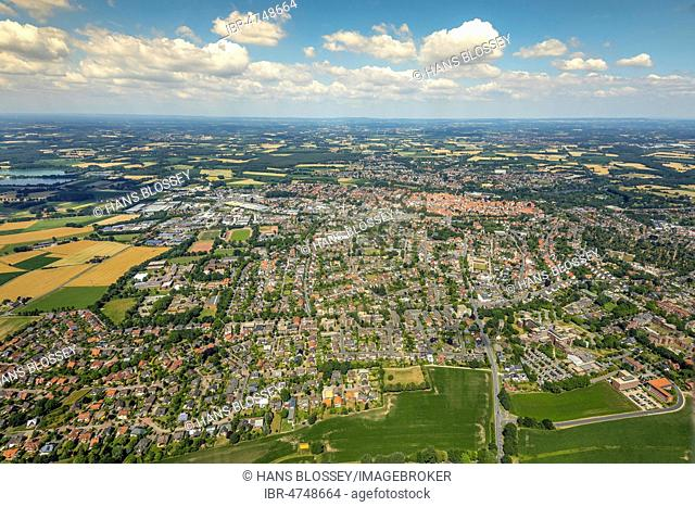 Overview Warendorf, Münsterland, North Rhine-Westphalia, Germany