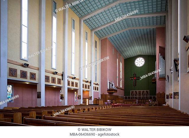 New Zealand, North Island, Hawkes Bay, Napier, Waiapu Cathedral, interior