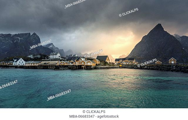 Sakrisoy village, Lofoten Islands, Norway
