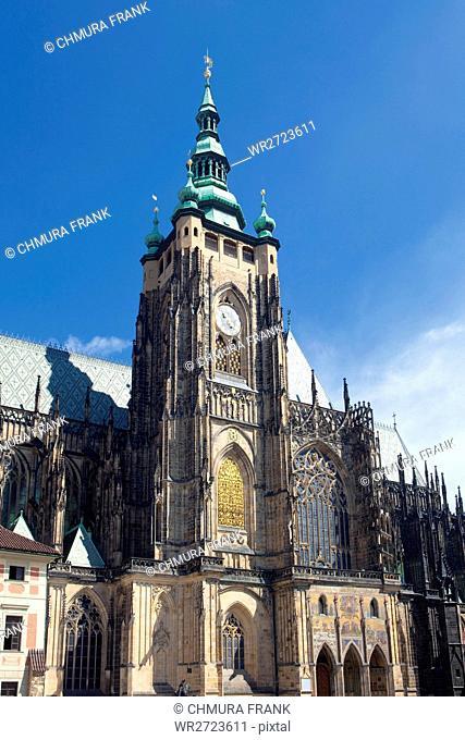 architecture, bohemia, castle, cathedral, Christianity, church, Czech Republic, Czechia, day, Europe, gothic, historic, historical, history, hradcany, landmark