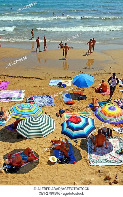 Beach, Sitges, Catalonia, Spain