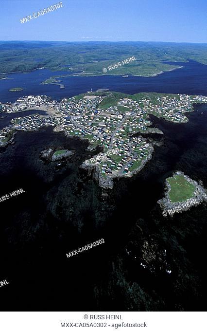 aerial view of Port Aux Basques, Newfoundland
