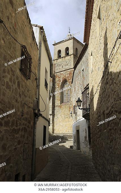 Iglesia de Santa Maria church, in historic medieval town of Trujillo, Caceres province, Extremadura, Spain