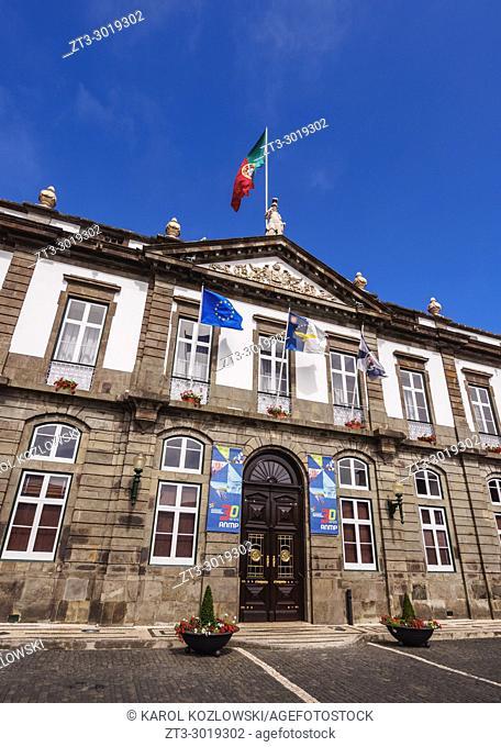 Town Hall, Angra do Heroismo, Terceira Island, Azores, Portugal