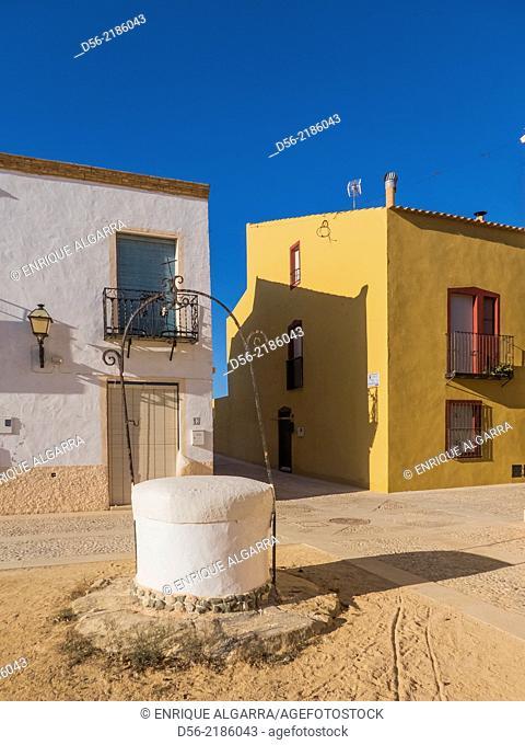 Well in a square, Tabarca Island, Alicante province, Spain