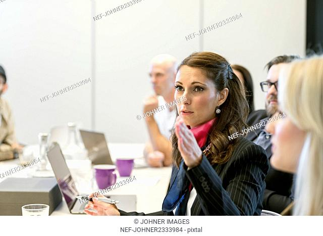 Woman at business meeting