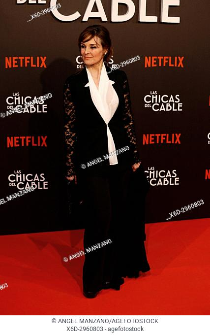 Premiere of the Netflix series Las chicas del cable.Silvia Abascal.Madrid. 27/04/2017.(Photo by Angel Manzano).