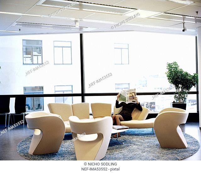 Woman in an office, Sweden