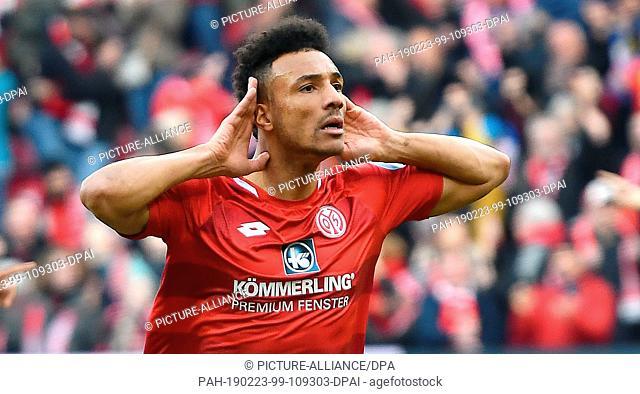 23 February 2019, Rhineland-Palatinate, Mainz: Soccer: Bundesliga, FSV Mainz 05 - FC Schalke 04, 23rd matchday, Opel Arena Mainz