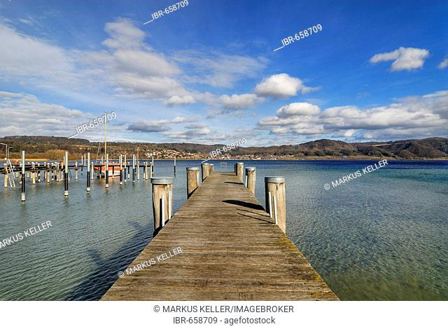 Dock, Lake Constance, Bodman-Ludwigshafen, Baden-Wuerttemberg, Germany, Europe