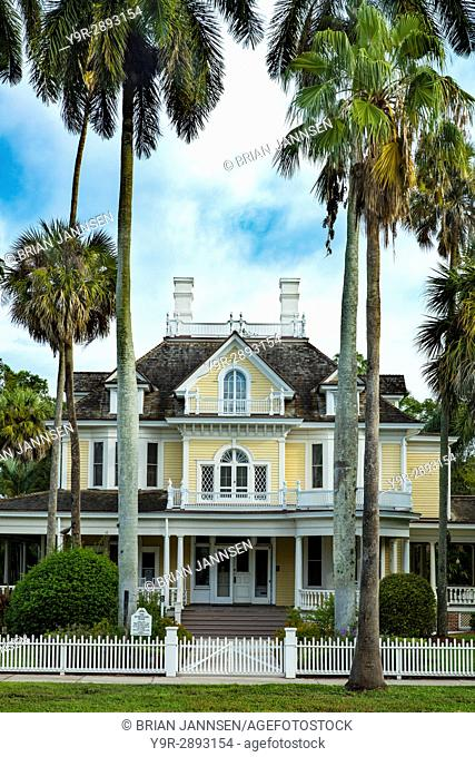 The historic Burroughs Home (b. 1901) - now a museum and event venue, Fort Myers, Florida, USA
