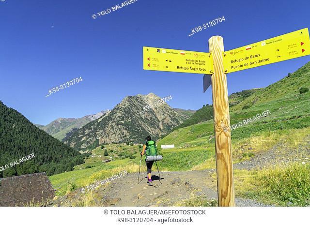 Valle de Añes Cruces, parque natural Posets-Maladeta, Huesca, cordillera de los Pirineos, Spain
