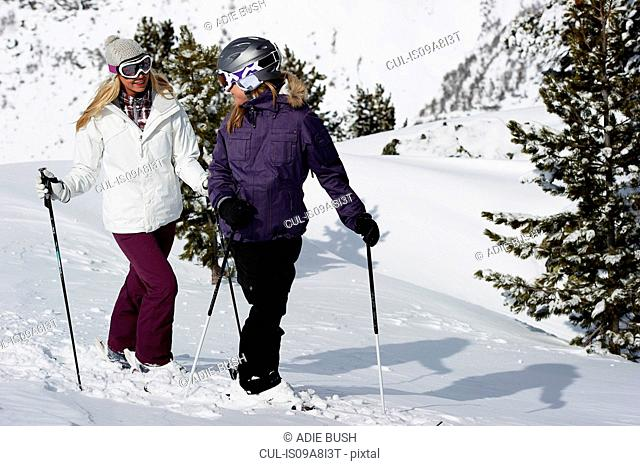 Two female skiers