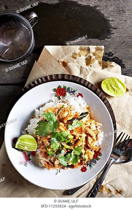 Pa-nang-moo (pork curry with kaffir limes and coriander, Thailand)