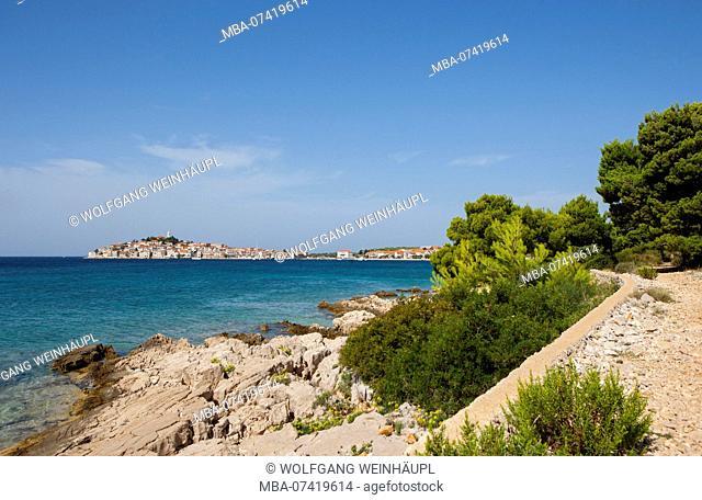 Croatia, Dalmatia, Central Dalmatia, Primosten, old town, Adriatic Sea