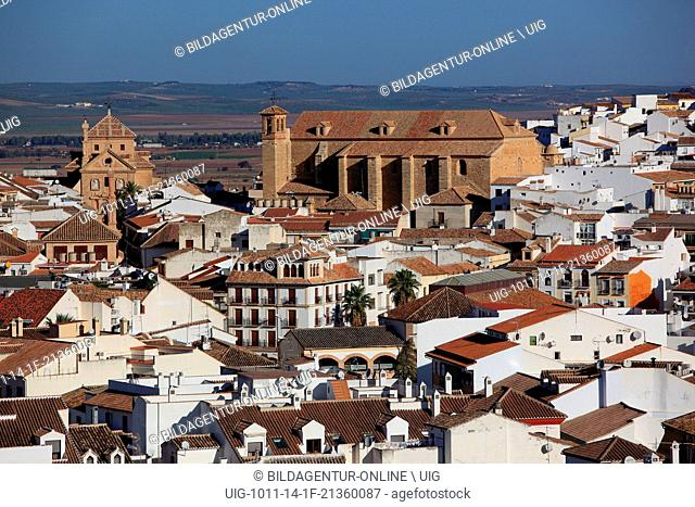 Antequera, Spain, Andalusia, old city and the church Iglesia de San Pedro, St. Peter church