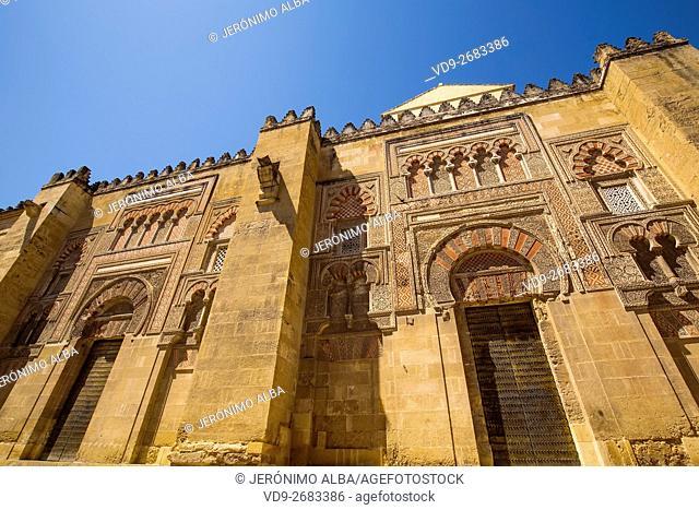 Mezquita Cathedral Arab Wall. Cordoba City Andalusia, Spain, Europe